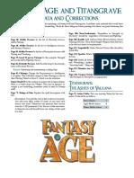 Fantasy Age and Titans Grave Errata