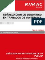 Señalizacion de Seguridad de Trabajos en via Publica