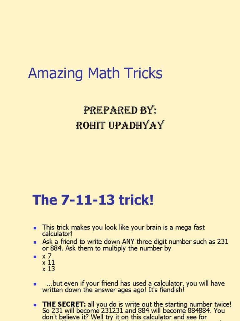 Amazing Math Tricks | Multiplication | Elementary Mathematics