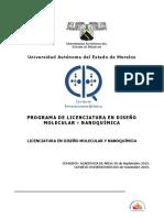 Licenciatura en Diseno Molecular Info