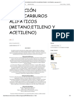 OBTENCIÓN HIDROCARBUROS ALIFÁTICOS (METANO,ETILENO Y ACETILENO)_ Laboratorio N° 1