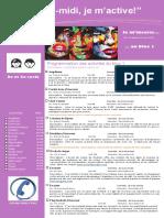 Dépliant Publicitaire Activités Mercredis PM Bloc 1 2e Et 3e Cycle 2016 2017