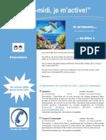 Dépliant Publicitaire Activités Mercredis PM Bloc 1 Préscolaire 2016 2017
