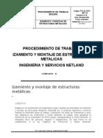 PTS Izamiento y Montaje de Estructuras Metalicas