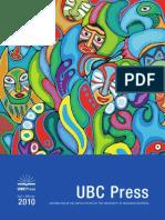 UBC Press Fall/Winter 2010 Scholarly catalogue