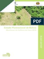 Informe de cultivos de coca en Bolivia - 2015