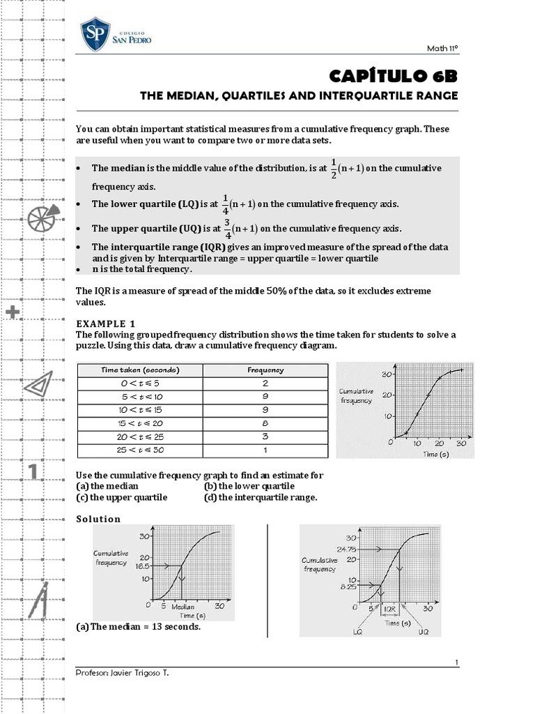 Cap 6b The Median, Quartiles And Interquartile Range Quartile Descriptive  Statistics