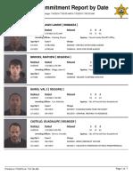 Peoria County Jail Booking Sheet 7/5/2016