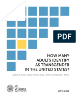 How Many Adults Identify as Transgender in the United States