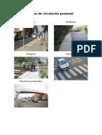 Áreas de Circulación Peatonal