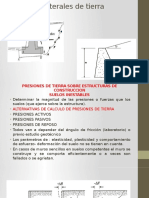 9° SEMANA - PRESIÓN LATERAL DE TIERRA - PROBLEMAS