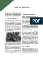0 WW1 Ace - Lothar Von Richthofen