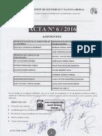 Acta 06/2016 Comité Autonómico Seguridad y Salud Laboral Tragsa UT 2 CV
