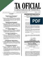 Gaceta Oficial N° 40.936 - Notilogía