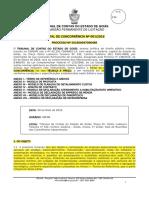 Edital Concorrencia 001-2016 Tce-go
