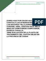 Evaluacion Planta Canton Deleg Provincia Del Canar