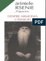 180709909 Pr Arsenie Papacioc Despre Armonia Casniciei PDF
