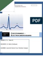 Cuestionario 2 Laboratorio de Fisiologia Electrocardiograma Leonardo Mendoza Urpeque