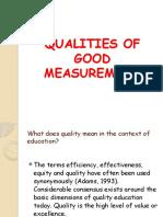 RosaryQualities of Good Measurement