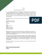 Carta Para Registro de Proveedores