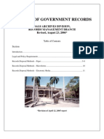 State of Hawaii - Procedure for Disposal of Government Records -