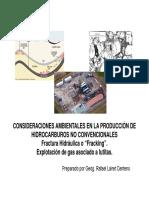 (2013!06!18) LAIRET Consideraciones Ambientales Produccion Hidrocarburos No Convencionales