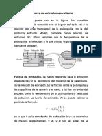 Cálculo de la fuerza de extrusión en caliente