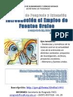 Curso de Posgrado Sobre Fuentes Orales