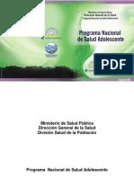 Programa Nacional Salud Adolescente 2007
