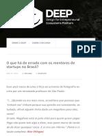 O que há de errado com os mentores de startups no Brasil?