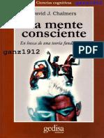 CHALMERS, D. J. - La Mente Consciente