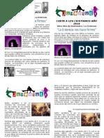 Carta a Los Cristianos Noviembre 2014