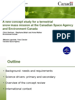 A new concept study for a terrestrial snow mass mission at the Canadian Space Agency and Environment Canada