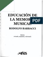 Educación de La Memoria Musical
