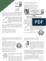 Carta a Los Cristianos Diciembre 2014
