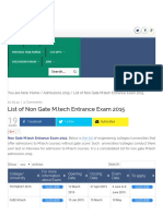 List of Non Gate M.tech Entrance Exam 2015 - Engistan.pdf