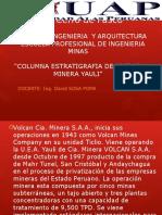 Columna Estratigrafica Y Geologia de Unidad Minera Yauli