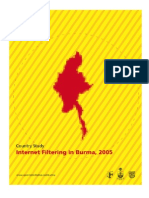 Internet Filtering in Burma 2005
