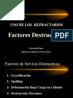 Uso de los Refractarios - Factores Destructivos