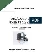 Decálogo Del Periodista