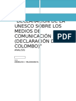 Declaración de La Unesco Sobre Los Medios de Comunicación