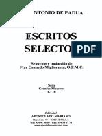 PADUA, S. ANTONIO-Escritos Selectos