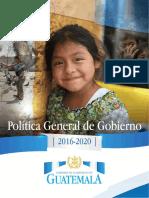 Política General de Gobierno 2016-2020