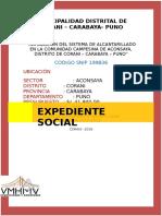 Caratula Expediente Social- Corani
