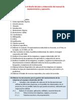 Actividades Para El Diseño Del Plan y Elaboración Del Manual de Mantenimiento y Operación(1)