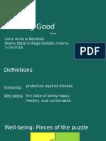 immunity and wellbeing presentation