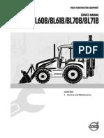 Service Manual Backhoe Loader B-Series, 1 Service and Maintenance