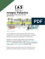 Simply Palacios Arcle Texs Highwayss 2016