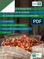 Las perdidas y desperdicios de alimentos en el contexto de sistemas alimentarios sostenibles