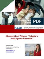 DAAD Webinar Estudiar e Investigar en Alemania 291015